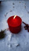 Rote Kerze, Licht, Kerzenflamme, Wärme, Winter